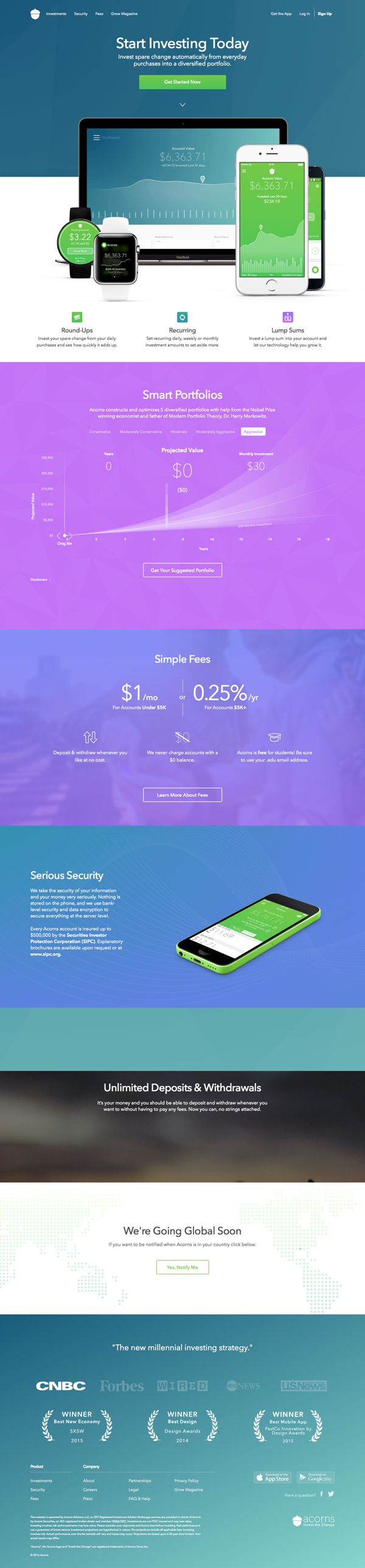 Start Investing Today | Landing Page Design Inspiration
