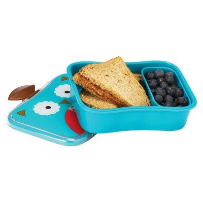 Skip Hop Zoo Little Kids & Toddler Lunch Kit With Storage Container - Owl,