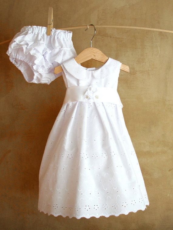 White Xmas baby lace dress Thanksgiving Christening Baptism