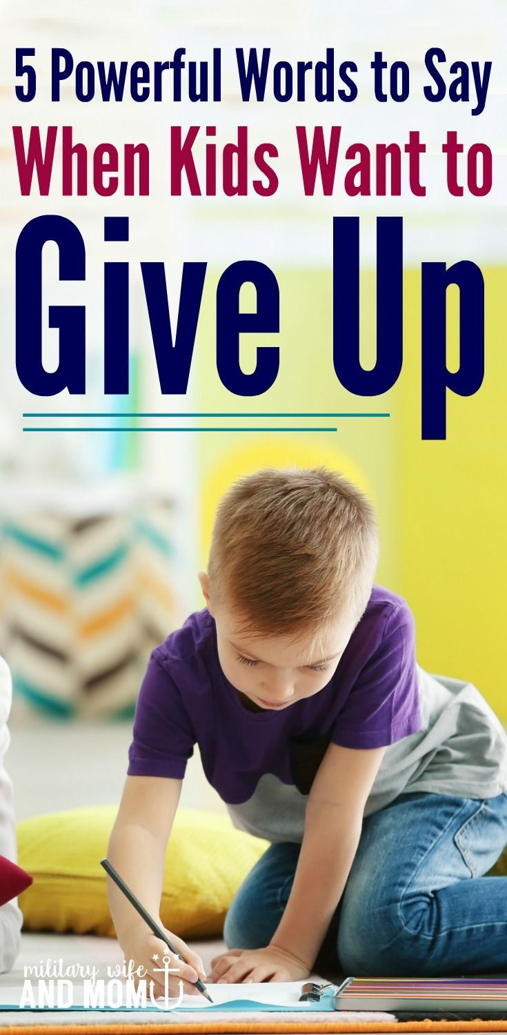 This phrase will help you build problem-solving skills for your kid. Perfect for when kids tend to give up!