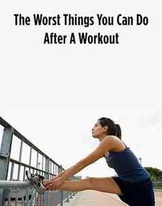 Nothing feels better than completing a good, invigorating workout. But there are a few harmful habits that can ruin a all the effort you had just put into your sweat session. Avoid doing the following...