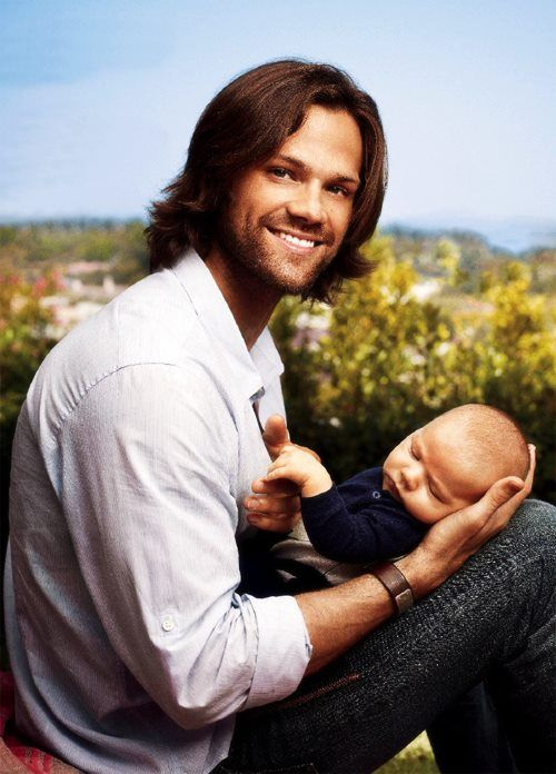 Jared Padalecki with his son Thomas Colton in People Magazine Father's Day issue.  Moose & Little Moose.