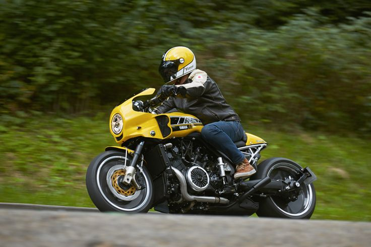 Liberty Yam has created a stunning tribute to legendary French Yamaha icon Jean-Claude Olivier 'JCO' with a muscular Café-Dragster build in 60th anniversary yellow and black colours.