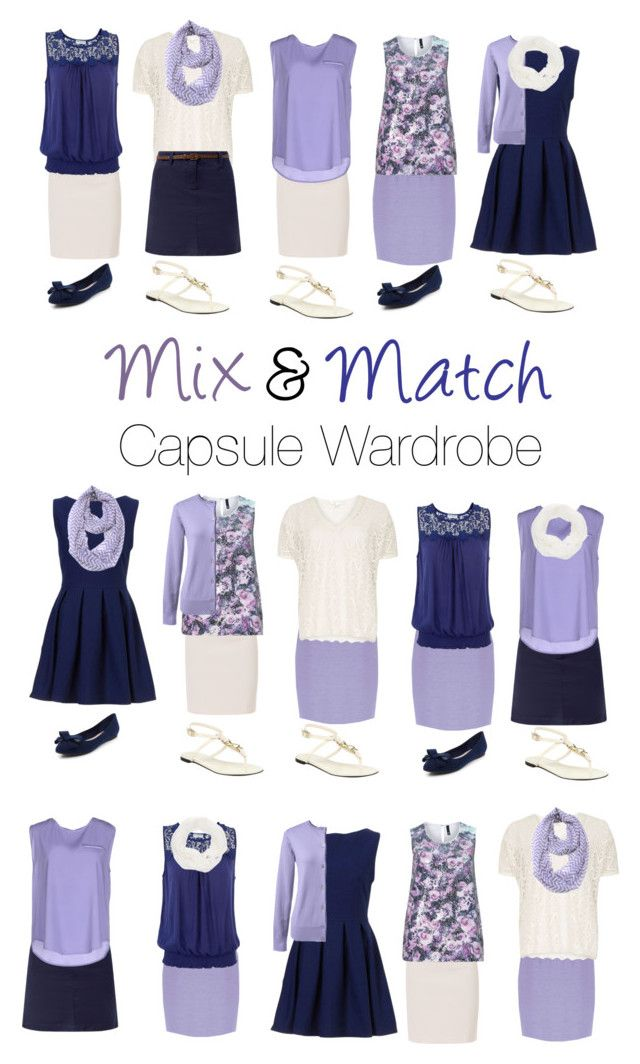 """Capsule Wardrobe: Navy and Lavender"" by mary-grace-see ❤ liked on Polyvore featuring Paule Ka, New Look, Brave Soul, Dorothy Perkins, ..,MERCI, Le Nom, Jacques Vert, Lands' End, Manon Baptiste and Burberry"