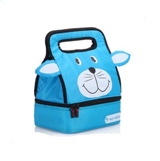 Impertex Fabric Girl Lunch Kit with Blue Teddybear Design