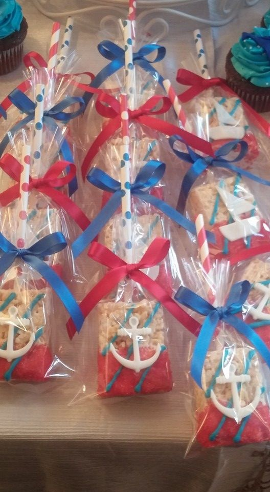Nautical rice Krispy treats