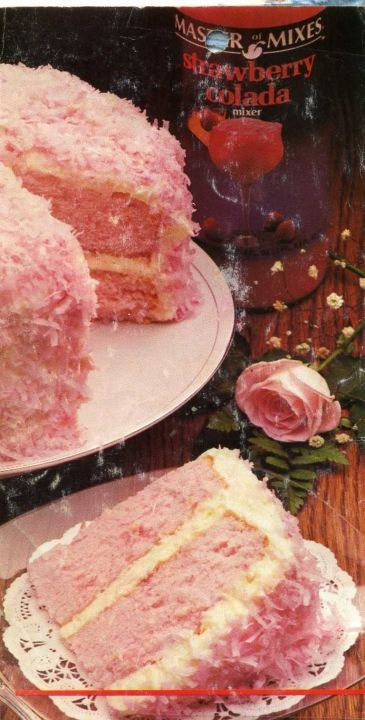 Strawberry Colada Coconut Cake