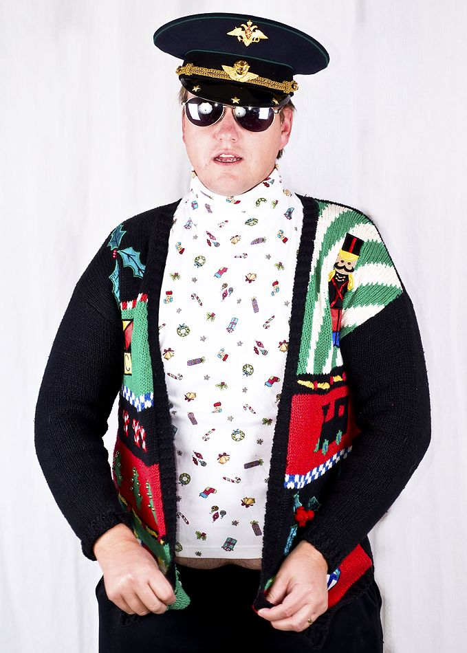 Men in ugly clothes | Details about Ugly Tacky Christmas Party WINNER Gladys Bagley Cardigan ...