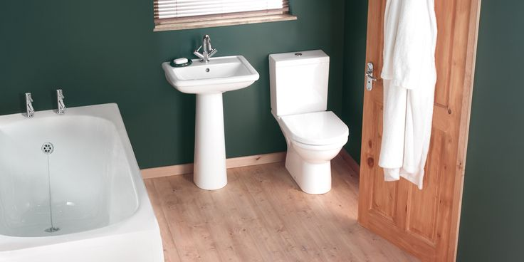 Balterley Mirage Bathroom Suite    The Balterley Mirage bathroom suite collection gives the combination of either square or round styling with the option of basins and pedestals available. Add a touch of class with smooth arched taps and a square cut bath tub.