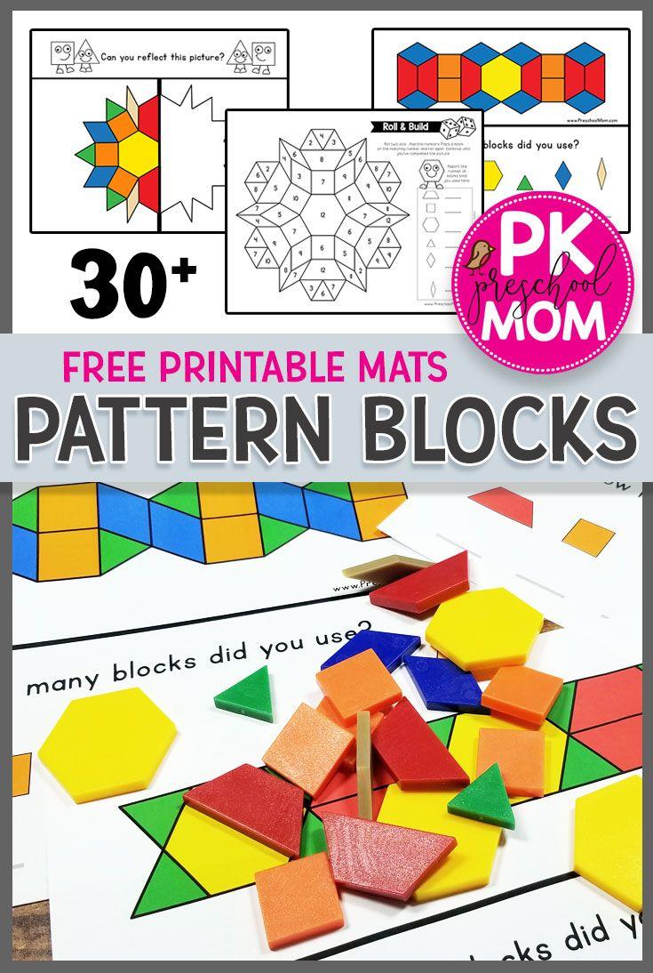 Free Pattern Block Mats Pattern Blocks Activities Free Pattern Block Printables Preschool Patterns [ 1094 x 735 Pixel ]