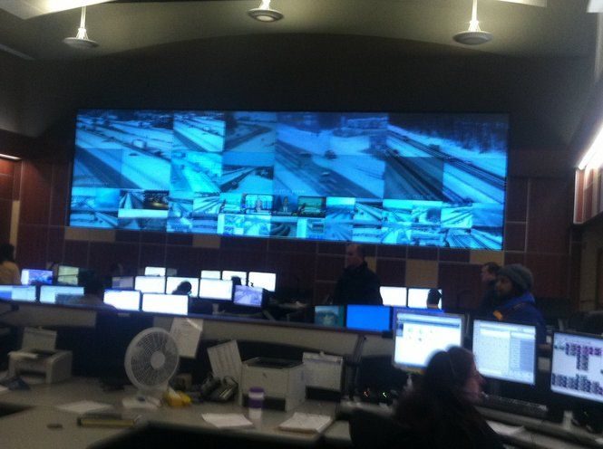 MDOT highway camera monitoring center in Detroit is a big help, according to Gov. Rick Snyder