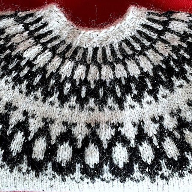 Icelandic, wool, man sweater,  Knitted  by GözdeSigurðs,  Pattern: Fugl. // İzlanda, yün, erkek kazak.