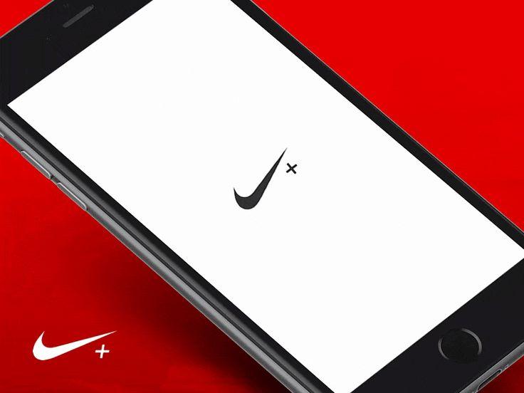 Nike  Running #ui #ux #animation #mobile #dribbble #gif #ios #iphone #interface #design