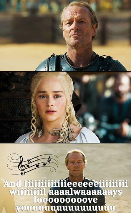 Daenerys and Jorah after their reunion