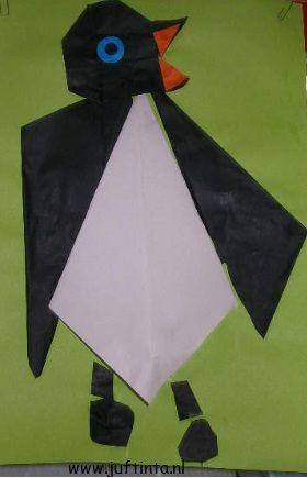 pinguinvouwen; klik op de link voor de beschrijving.