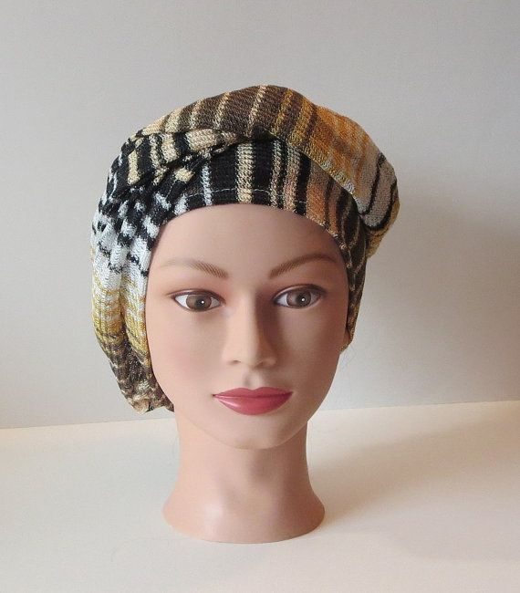 Missoni Striped Earthy Knit Turban Stretch Hair Wrap by TiStephani, $42.00