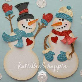 Paper Piecing Snow Couple