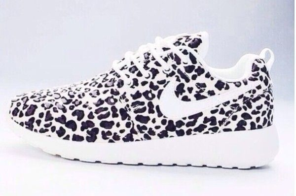 Black & White Leopard Print NIKE Roshe Run