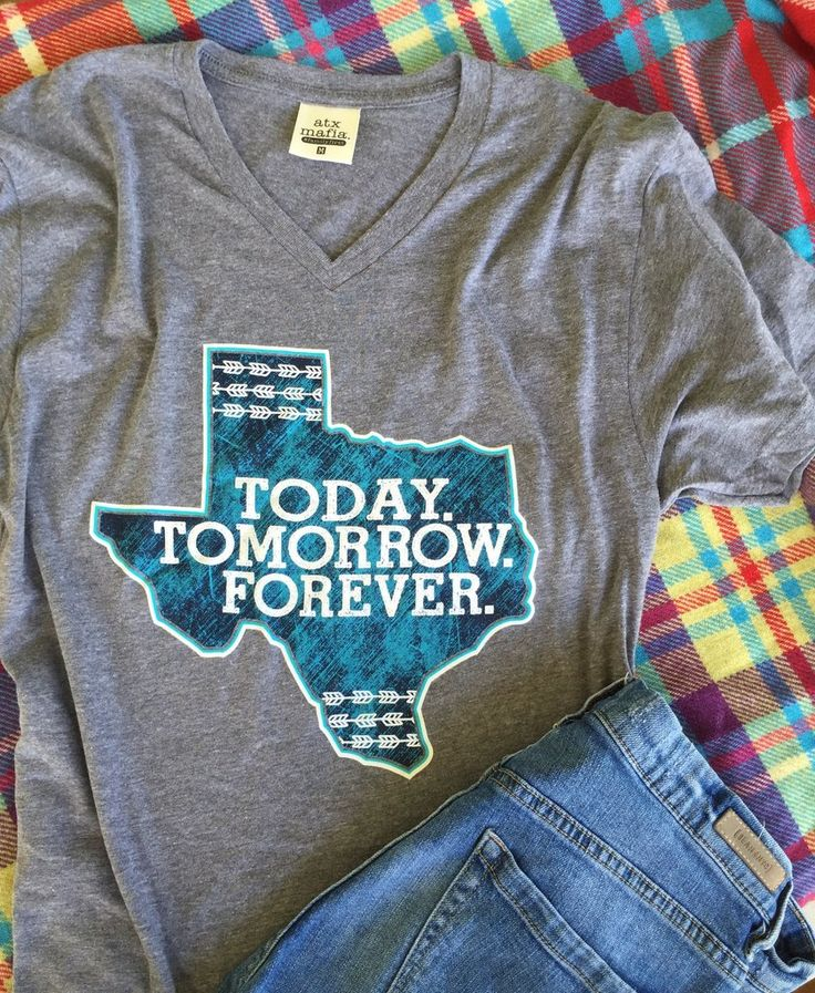 Texas- Today. Tomorrow. Forever - SS Color: Grey Tri Blend 50/25/25 polyester/combed and ring-spun cotton/rayon Sizing Notes .... Small - 2/4 Medium - 6/8 Large - 10/12 XL - 14/16