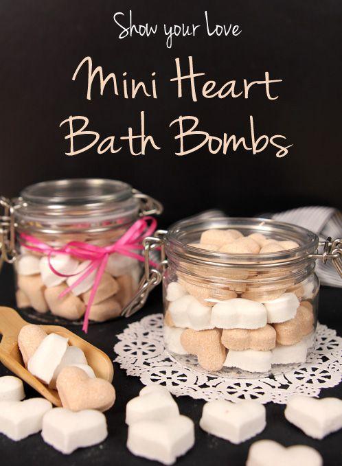 Show Your Love: Mini Heart Bath Bombs Tutorial