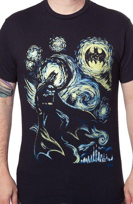 Starry Dark Knight T-Shirt - Batman T-Shirt