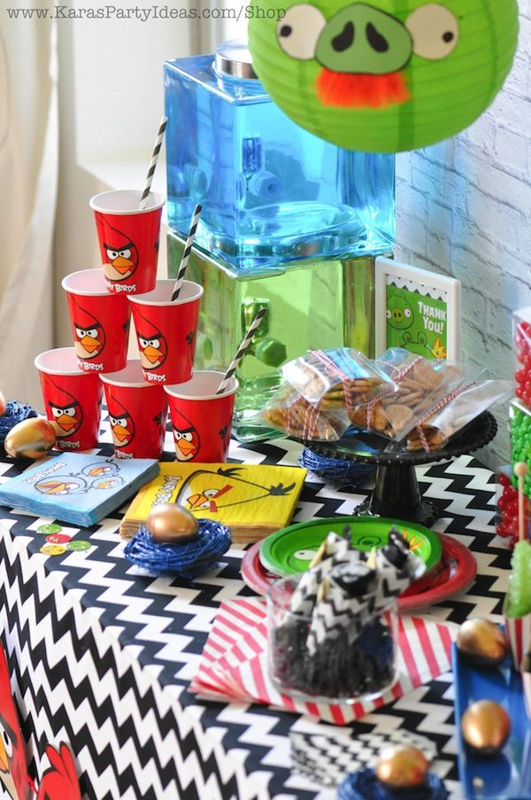 1000 images about ideas angry birdtheme on pinterest for Angry birds party decoration ideas
