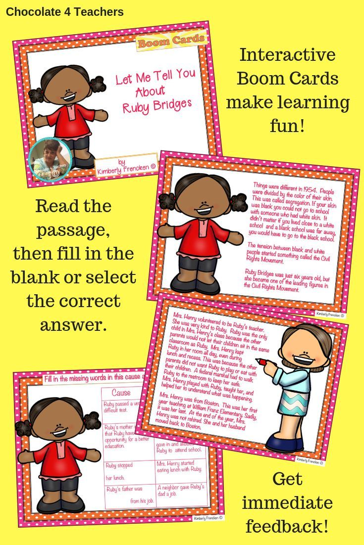 Your Students Will Read About Ruby S Courage And Answer Questions On Interactive Boom Cards The Language Arts Elementary Social Studies Resources Told You So