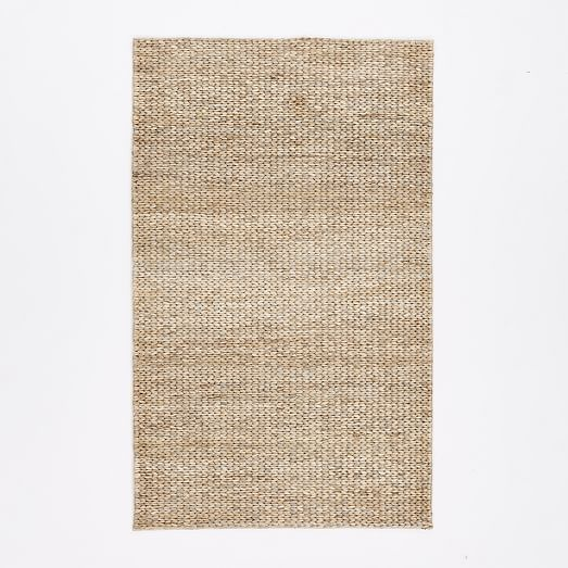 Braided Rug For Living Room: Tonal Braided Jute - Platinum