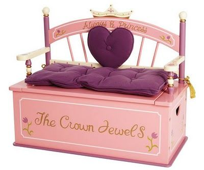 Levels of Discovery Princess Toy Box Bench - Ideas for Decorating and Organizing a Playroom - Zimbio