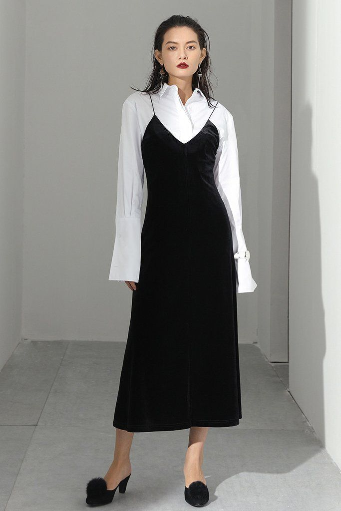 """Size + Fit: - In stock Oct-28 - US Size: XS-2 / S-4 / M-6 / L-8 - EUR Size: XS-34 / S-36 / M-38 / L-40 - Length: 45.7"""" / 116cm - Bust: 28.1"""" / 71.5cm - Waist: 25.6"""" / 65cm - Model is wearing size smal"""