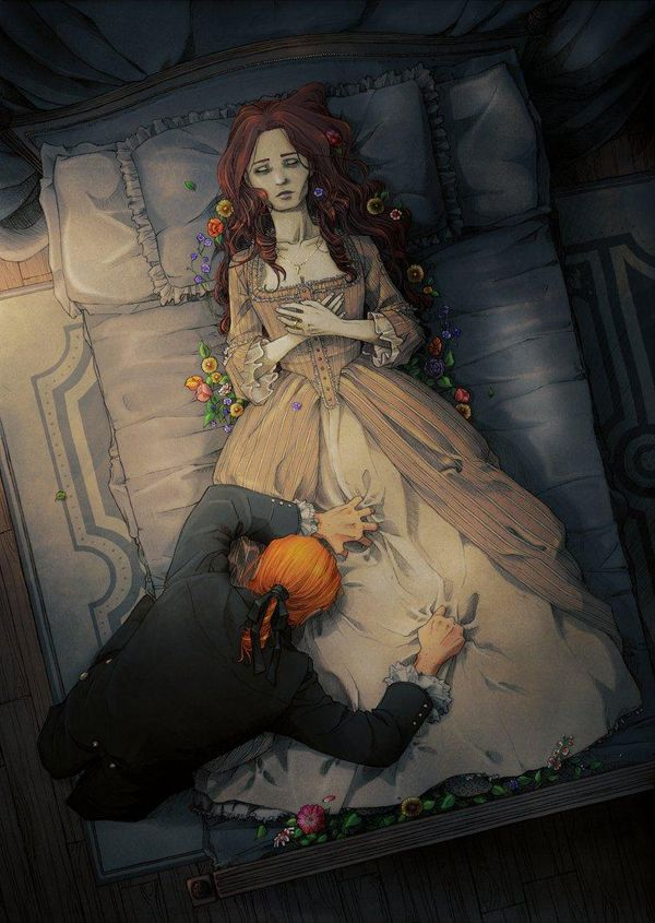 her wake by nami64 - Love Illustrations by Nami64