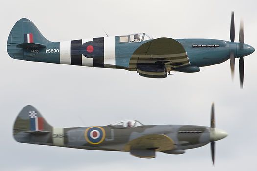 Counter Rotating Propellers : The supermarine spitfire mk xix f azjs ps showing