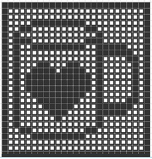 Heart Coffee Mug Filet crochet chart, shared publicly via Twitter and Flickr in August 2012.