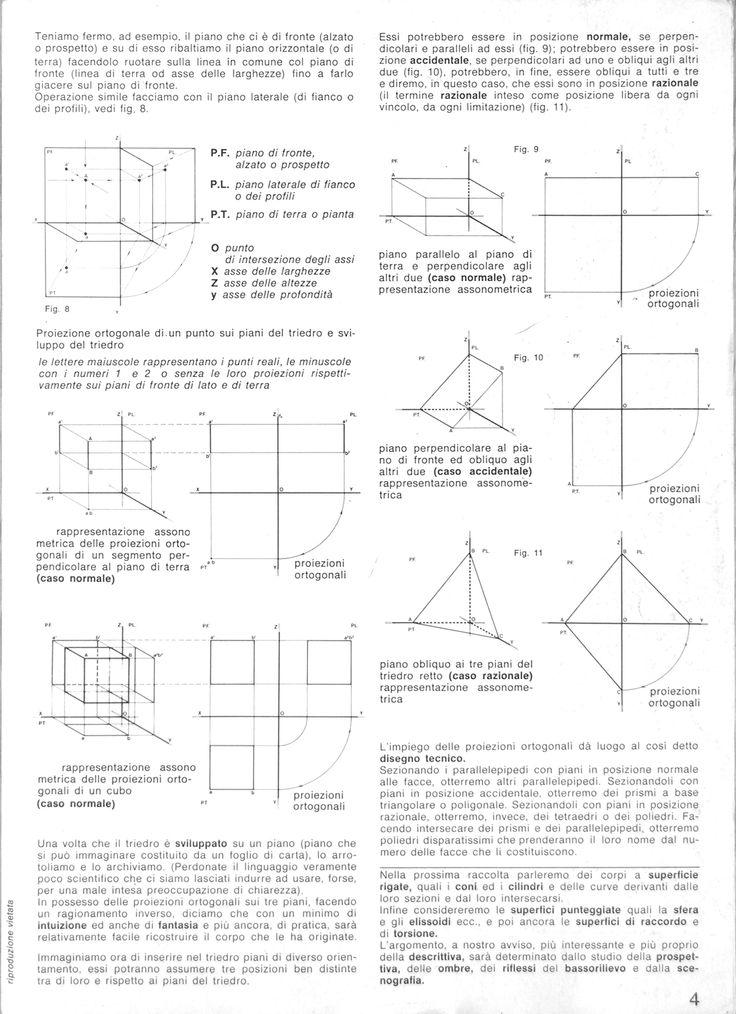Proiezioni ortogonali, edizione 1977 autore Umberto Cranchi.