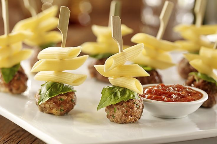 Looking for an authentic Italian recipe? Try Barilla's step-by-step recipe for Barilla® Penne Meatball Party Skewer for a delicious meal!