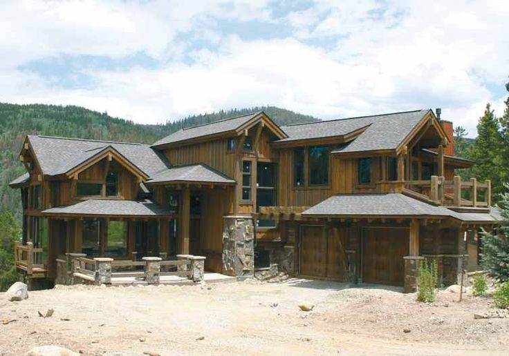 21 best images about rustic mountain lodge design ideas on for Custom rustic homes