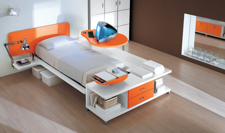 Modern Single Bed Designs Mesmerizing Modern Futuristic Single Bed  Espacios  Pinterest  Modern Design Decoration