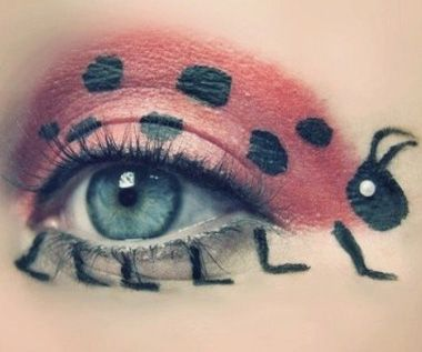 Pictures of crazy eye makeup eyeshadow designs featuring Disney movies, polka dots, animal print and more.
