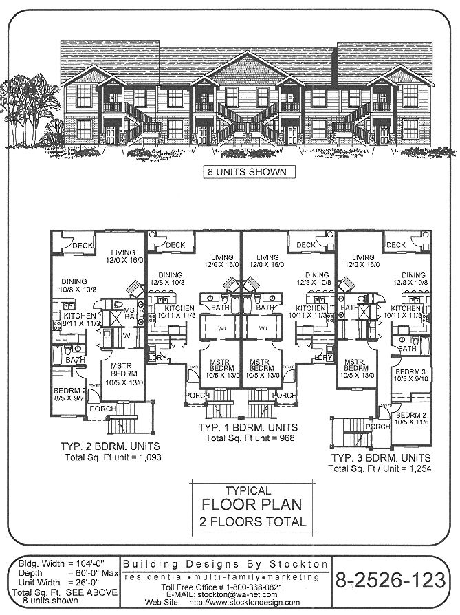 8 plex too many stairs apartment house plan ideas