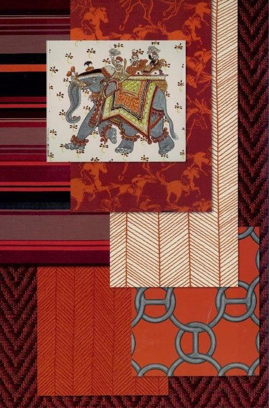 Hermes Home Fabrics @Co van der Horst. Dulux Colour of the Year 2015 Copper Orange. See how to use it on the blog, we are #talkinginteriors at YasminChopin.com