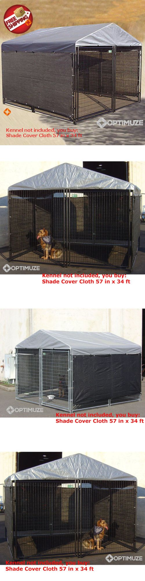 Fences and Exercise Pens 20748: Heavy Duty Dog Cat Cage House Kennel Cover Pet Outdoor Shelter Shade Play 57X34 -> BUY IT NOW ONLY: $109.81 on eBay!