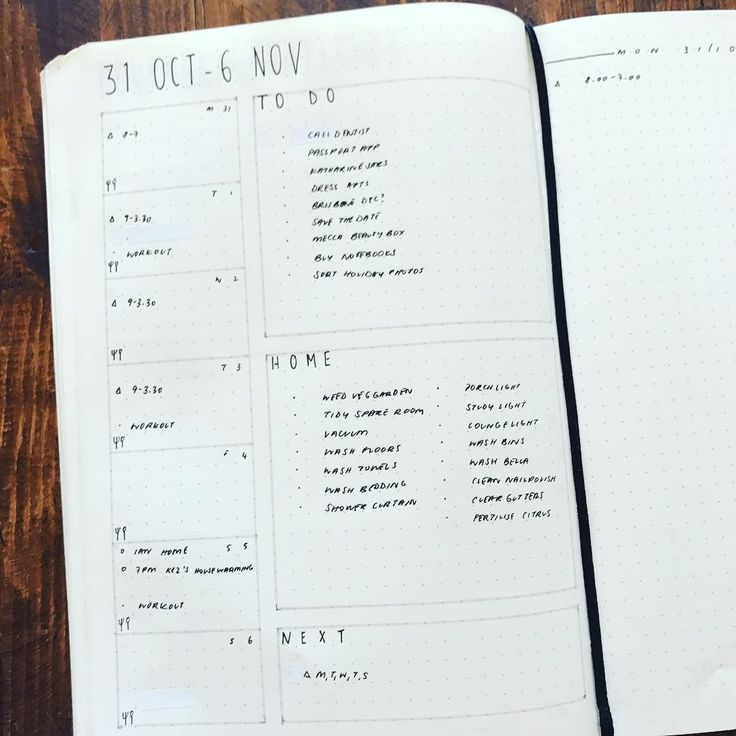 #planwithmechallenge 11.3 To-do  My weekly overview - events, workouts, meals, and to do lists. Currently using a full page but I do love it set up like a rolling weekly  *  *  * Leuchtturm1917 A5 Soft Cover Black Dot Grid  * Pilot G-2 0.38mm Black  * Faber Castell PITT Artist Pen S Black * Tombow Dual Brush Pen N75