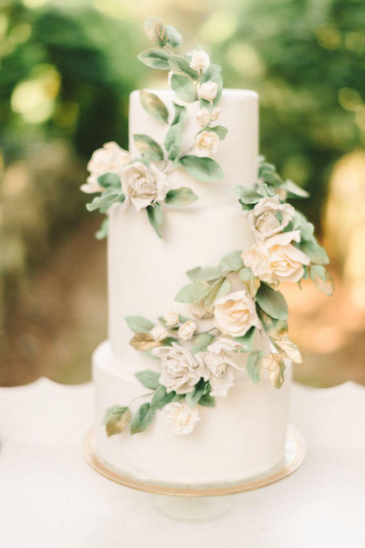 2017 05 vintage wedding cakes dallas - Floral Wedding Cake