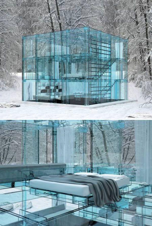 Стекло используется не только для остекления домов. Сейчас из стекла можно построить целый дом!