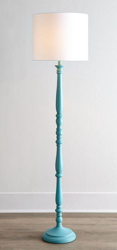 Teal Courtney Floor Lamp - $450 I bet I could create the same look for A LOT less $$$$