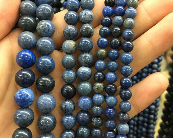 natural Blue dumortierite beads,semi precious Gem stone jasper loose beads for jewelry making 4mm 6mm 8mm 10mm 12mm 1strand