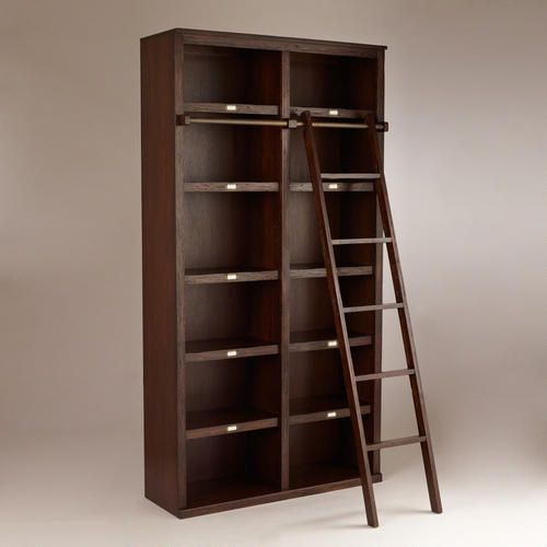 This is another option for the living room library....Augustus Library Bookshelf @ World Market