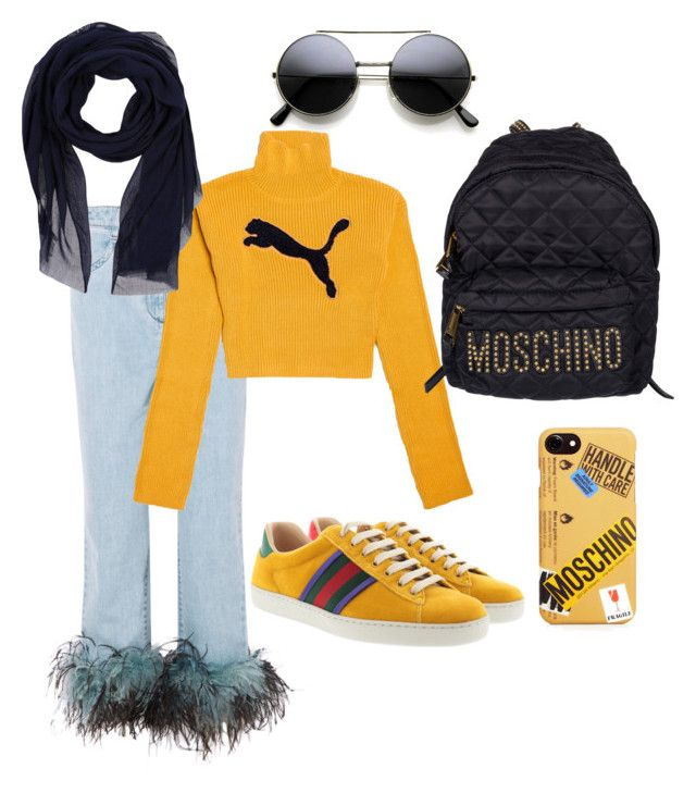 """""""🥑💛"""" by viraslv on Polyvore featuring Prada, Puma, Moschino, Gucci and Barts"""