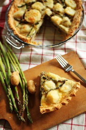 ポテトとアスパラガスのキッシュ|レシピブログ