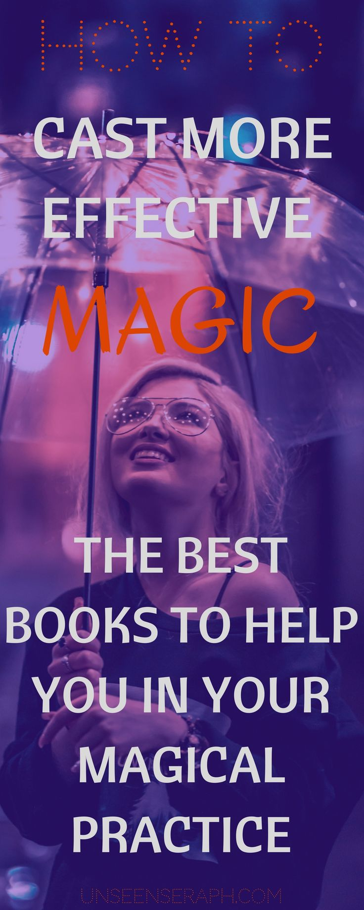 Whether you are very new to magic & witchcraft and looking where to start or an experienced witch looking to expand her knowledge & practice, I got you covered! Check out my list of books to help you cast better magic & increase the effectiveness of your spells! Unseen Seraph | Magick | Witchcraft | Block Removal | Transformation